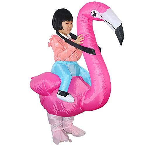 MIMI KING Aufblasbares Flamingo-Hosen-Kostüm, Lustige Aufblasbare Kostüme Halloween Cosplay Sprengen Kostüm,Child