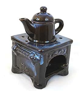 LAMPE bRULE-parfum cuisinière avec théière en céramique