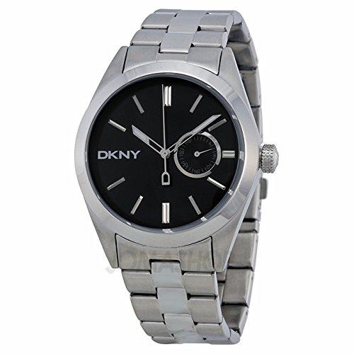 DKNY DKNY JITNEY Black Dial Galvanised Steel Mens Watch NY1534