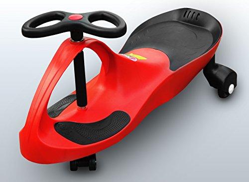 RIRICAR Rot Spielzeugauto für Kinder - Antrieb durch Lenkbewegung, mit Flüsterrädern