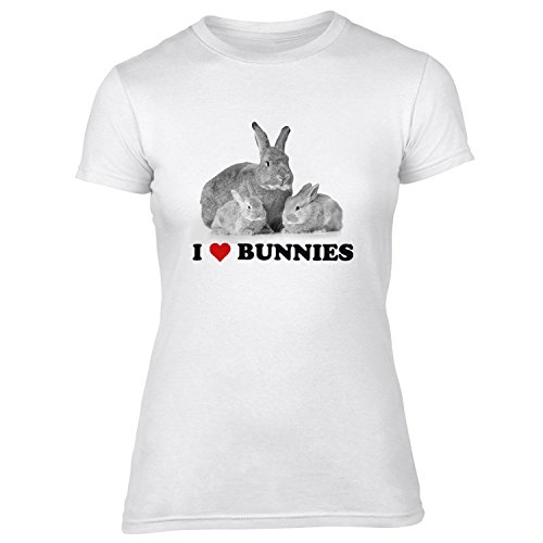 Ich liebe Hasen Womens Slim Fit T-Shirt - XX-Large (20) (Beute-shirt Ich Liebe)