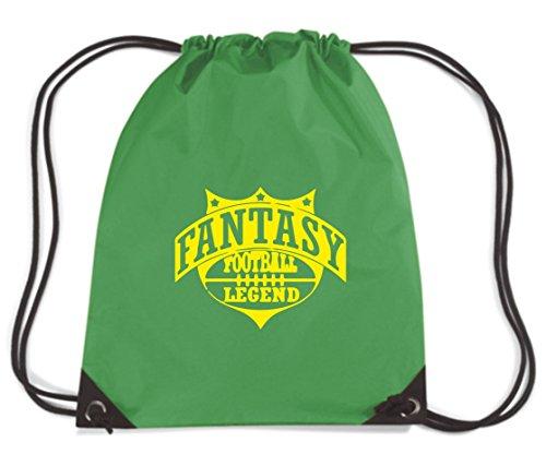 T-Shirtshock - Rucksack Budget Gymsac WC1207 Fantasy Football Legend Maglietta, Größe Kapazität 11 Liter (Legend Football Fantasy T-shirt)