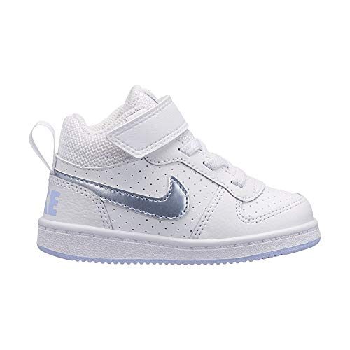 Nike Unisex-Kinder Court Borough Mid (TDV) Basketballschuhe, Mehrfarbig (White/Royal Tint 103), 23.5 EU