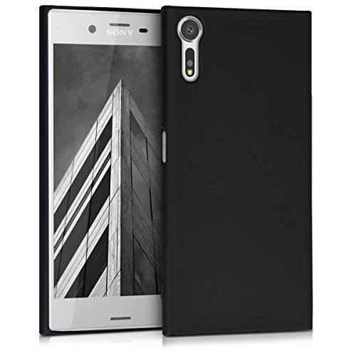 kwmobile Sony Xperia XZ/XZs Hülle - Handyhülle für Sony Xperia XZ/XZs - Handy Case in Metallic Schwarz