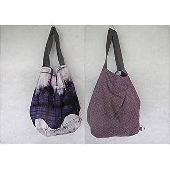 Tasche groß, Strandtasche, hobo Bag, Shopper, zum Wenden, Wendetasche,Jeans/Batik
