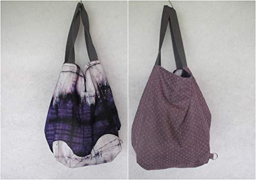 Tasche groß, Strandtasche, hobo Bag, Shopper, zum Wenden, Wendetasche,Jeans/Batik -