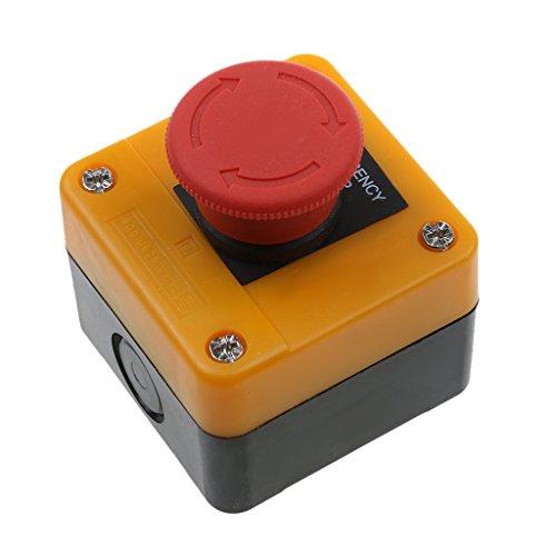 Preisvergleich Produktbild Gazechimp Rotes Schild 220v Not-Aus-Schalter Druckschalter