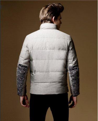 OHmais homme parka manteau d'hiver veste fourré Café
