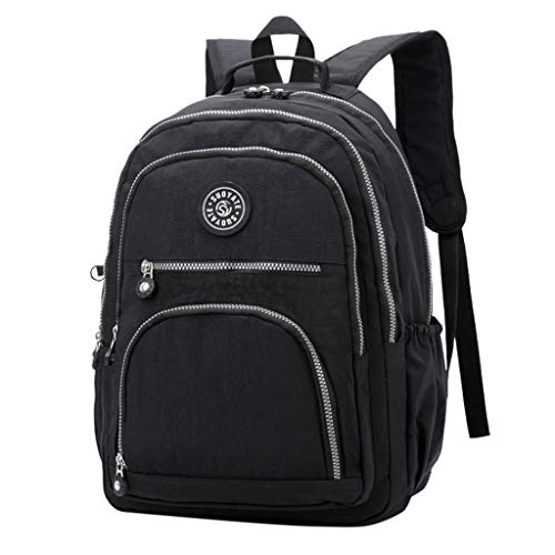 Linkay Neuer HeißEr Verkauf Mode Wild Damen Leinwand GroßE KapazitäT Tasche Handtasche Rucksack Reisetaschen UmhäNgetasche Rucksack-Schwarz -