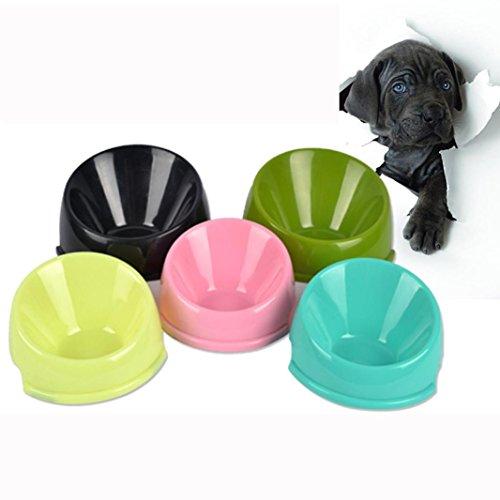 wuayi Pet Puppy Kunststoff Praktische Food Füttern Trinken Diagonal Katzennapf Candy Farbe (Kinder Stroh Tassen Bpa Frei)