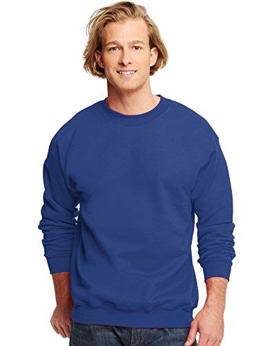 hanes-sweat-shirt-manches-longues-homme-bleu-xx-large