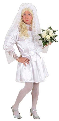 Karneval-Klamotten Braut Kostüm Herren Männerballett Karneval Fasching Junggesellenabschied Herrenkostüm Braut-Kleid inkl Schleier Größe ()