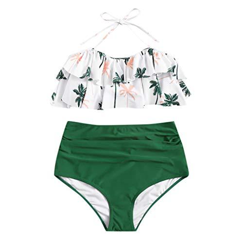 Myfilma ◔◡◔ 2 stücke Frauen Sexy Hawaiian Kokos Druck Verband Bikini Set Brasilianische Badebekleidung Beachwear Hohe Taille Badeanzug