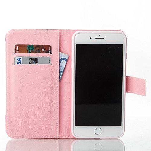 iPhone 7 Plus 5.5 case, Feeltech iPhone 7 Plus 5.5 Custodia in pelle ,Flip Folder Holder della carta Copertura portatile portafoglio portatile Folio Design Premium Elegante [Pattern colorato di pi Cacciatore di sogni
