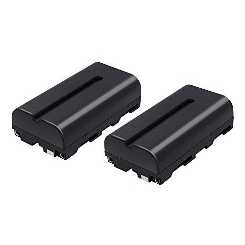 Bonacell 2X Akku für Sony NP-F550 NP-F570 Kamera Ersatzakku 2900mAh Kompatibel mit Sony CCD-RV100, CCD-RV200, CCD-SC6, CCD-SC65, CCD-TRV67, DCM-M1, DSC-CD250, DSC-CD400, HVR-M10U, HVR-V1J Sony-ccd-kamera