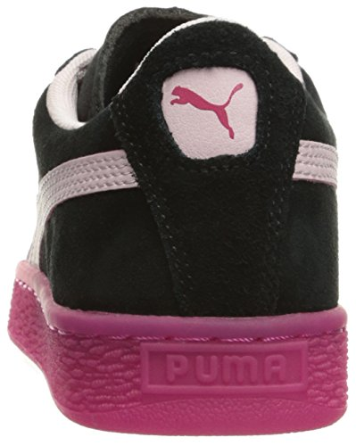 Puma Suede Lfs Iced Jr Faux Wildleder Turnschuhe Black-Pink-Beetroot Purple