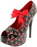 Pinup Couture - zapatos de tacón mujer, color negro, talla 40 (7 UK)