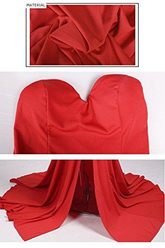 Missord - Robe - Cocktail - Sans Manche - Femme red