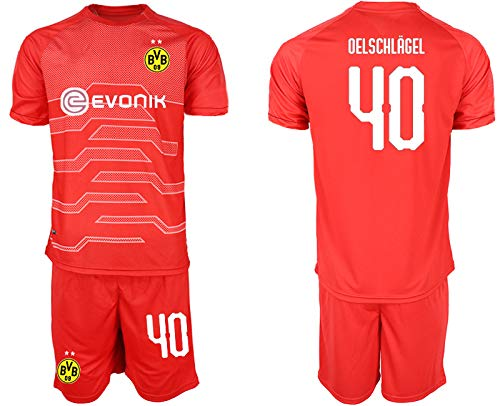 djhurdfh Fußballuniform - 19-20 ClubFußballuniform Trikot Erwachsene Kinder Fußballmannschaft Uniform Match Training Team Uniform, T-Shirt und Shorts Sport Fußball Jersey (XXL, Rot 40) -