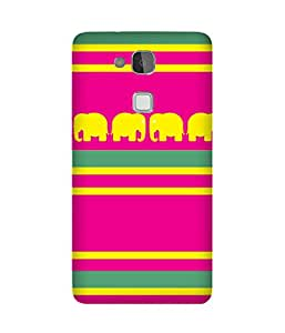 Stripes And Elephant Print (2) Huawei Ascend Mate 7 Case