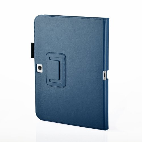 MOFRED® Royal Blue Samsung Galaxy Tab 3 – 10.1 inch Case-MOFRED® Retail Packed Executive Multi Function Standby Case with Built-in Magnet for Sleep / Wake Feature For the Samsung Galaxy Tab 3 10.1 inch Tablet + Screen Protector + Stylus Pen (Available in Mutiple Colors)