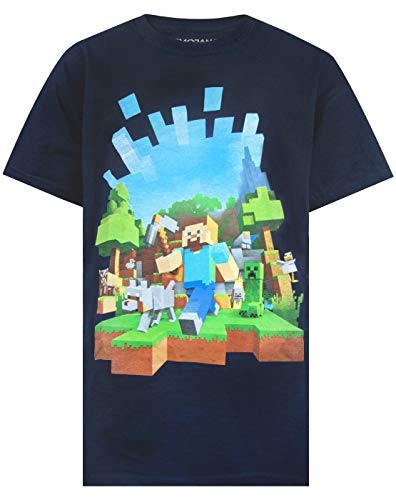 Marokko Minecraft Adventure Logo Boy's T-Shirt (12-13 Years)