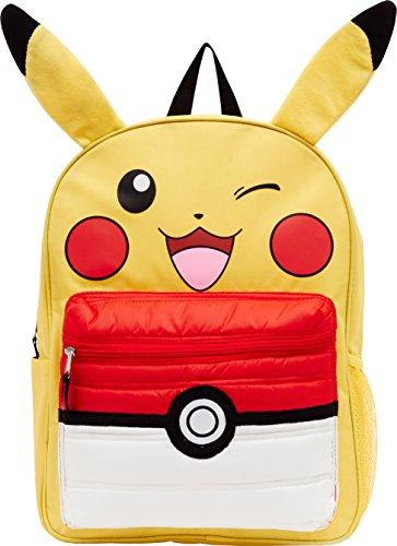 Pokémon 40,6cm Pikachu Sac à dos W/6/Poké Ball Poche