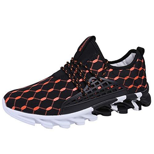 Turnschuhe Männer Schwarz,Dasongff Sneaker Herren Schwarz,Atmungsaktiv Laufschuhe Schnürer Running Shoes Low-Top Sportschuhe Mesh Sport Schuhe