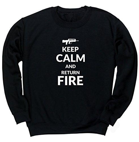 Hippowarehouse Keep Calm and Return fire Unisex Jumper Sweatshirt Pullover