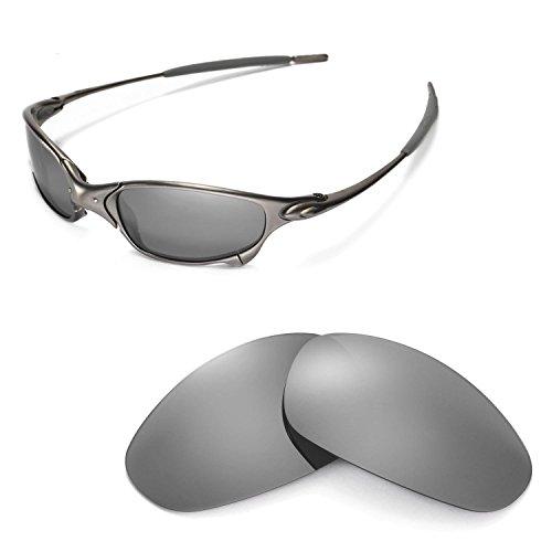 Walleva Ersatzgläser für Oakley Juliet Sonnenbrille - Mehrfache Optionen (Titanium Mirror Coated - Polarisiert)