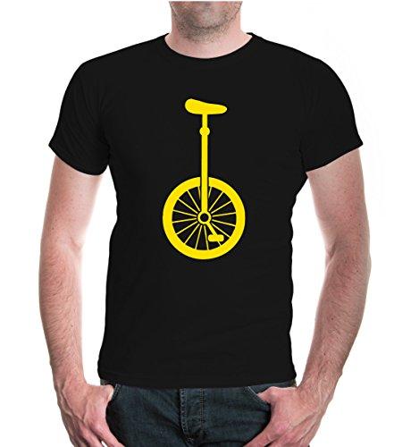 buXsbaum® T-Shirt Einrad-Silhouette Black-Sunflower