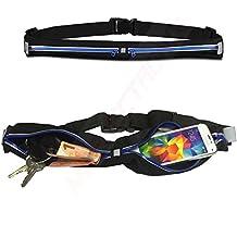 1A Jogging bolsa Cinturón Unidad Azul Deporte Fitness–Funda de cinturón para THL W200