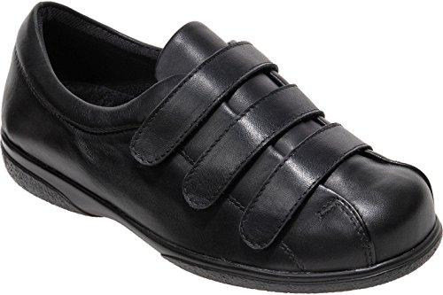 Cosyfeet Alison Schuhe - Besonders Geräumig/Extra Roomy (Breite Passform M+ Euro/5E+ Width Fitting UK) - Schwarz, Leder - 40.5 (Schuhe Frauen Extra Breite Für)