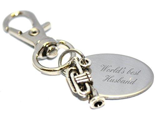 World's Best Husband Trompete Schlüsselanhänger im Geschenk Beutel - LT101