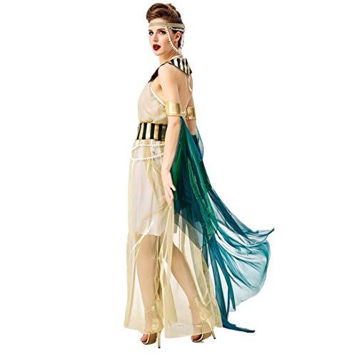 Nombre del producto: ropa de CleopatraMaterial: poliéster + hilos + tela de filamentos + camisa de la magiaTamaño: M / L / XLPeso: 0,7 kgLista de productos: sombreros + babero + falda + pulsera de la capa + cadena de la cintura Faja +Detalles del tam...