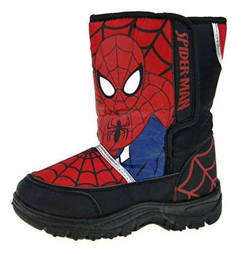 Marvel Spiderman Boys Snow Boots Red