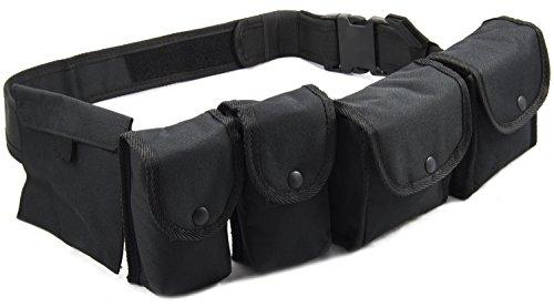 Nitehawk Ceinture de patrouille avec housses pour policier/gardien de prison/agent de sécurité/chasseur