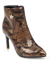 68b3e8dde0591c QPYC Frauen Stilettos Spitze Schlange Schuhe Große Größe Seitlichem  Reißverschluss Kurze Röhre Kurze Stiefel Martin Stiefel