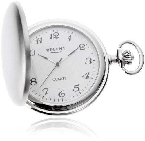 Regent Taschenuhr Regent Quartz verchromt 11380060