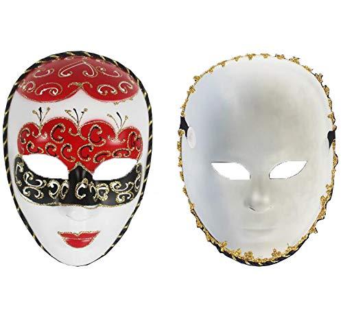 SNHWARE Halloween Masken Upscale Gesicht gemalt Masken Ghost Festival Maskerade Party Dekorationen Masken Festival Party Cosplay