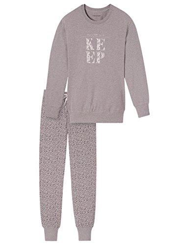 Schiesser Damen Zweiteiliger Schlafanzug Selected Premium Anzug Lang Beige (beige-mel. 406)