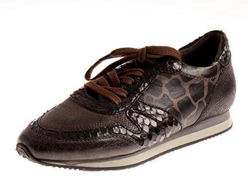 Isabelle Sneaker Damenschuhe Leder Schuhe Schnürer Lederschuhe 4582 Braun