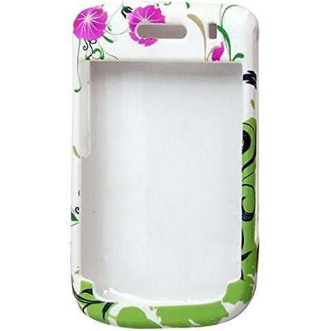 Impresión de la flor Caso plástico duro protector para BlackBerry 9630