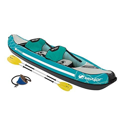 Sevylor 2000026860 2personas(s) Verde, Gris Kayak Inflable Kayak Deportivo - Kayaks Deportivos (Kayak Inflable, 2 Personas(s), 200 kg, Verde, Gris, 2 Asiento(s), 930 mm)