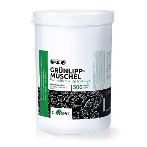 GreenPet Grünlippmuschel Pulver 500g DOSE für Haustiere (100% pur & naturrein)