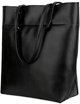 Ausverkauf-Yaluxe Damen Casual Stil Soft wachsartig echtes Leder elegant Schultertasche Handtasche