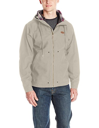 Backpacker Hooded Canvas Jacket, Herren, stone, L (Mens Hooded Canvas Jacket)
