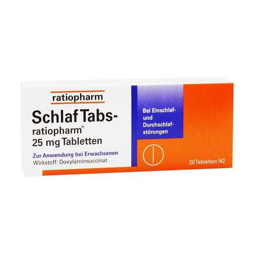 SchlafTabs-ratiopharm 25m 20 stk