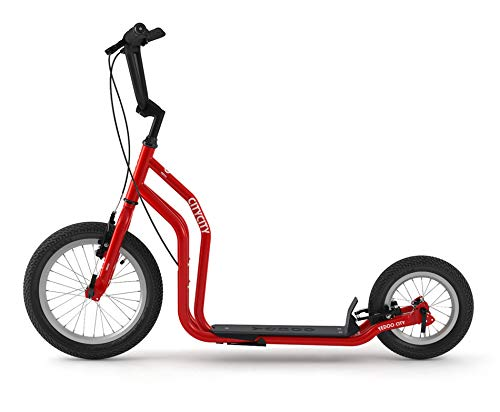 Yedoo City Scooter RunRun 16/12 Zoll rot | Tretroller mit Offroad-Reifen | Nachfolgemodell des City New