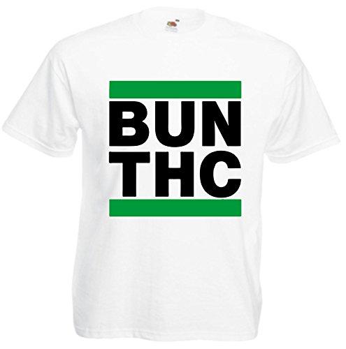 T-Shirt Weed Cannabis Joint Freiheit Spass Fun Rauchen Kiffen Gras Bong Haschisch Motiv 6 viele Farben S M L XL 2XL 3XL 4XL Damen Herren und Kinder 104 bis 152 Weiß